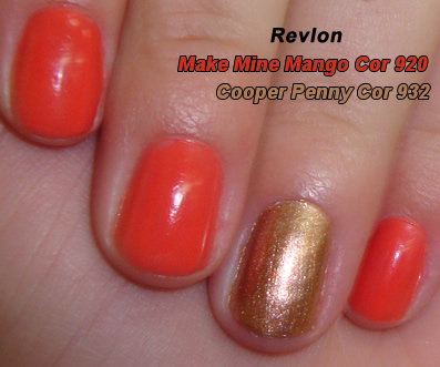 Esmalte Revlon Make Mine Mango e Metallic